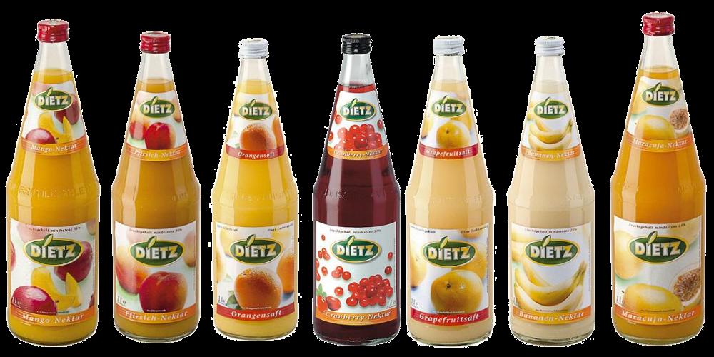 Džusy Dietz - Juice ve skle
