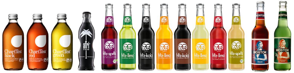 Nealkoholické nápoje a limonády nejrůznějších chutí a vůní.